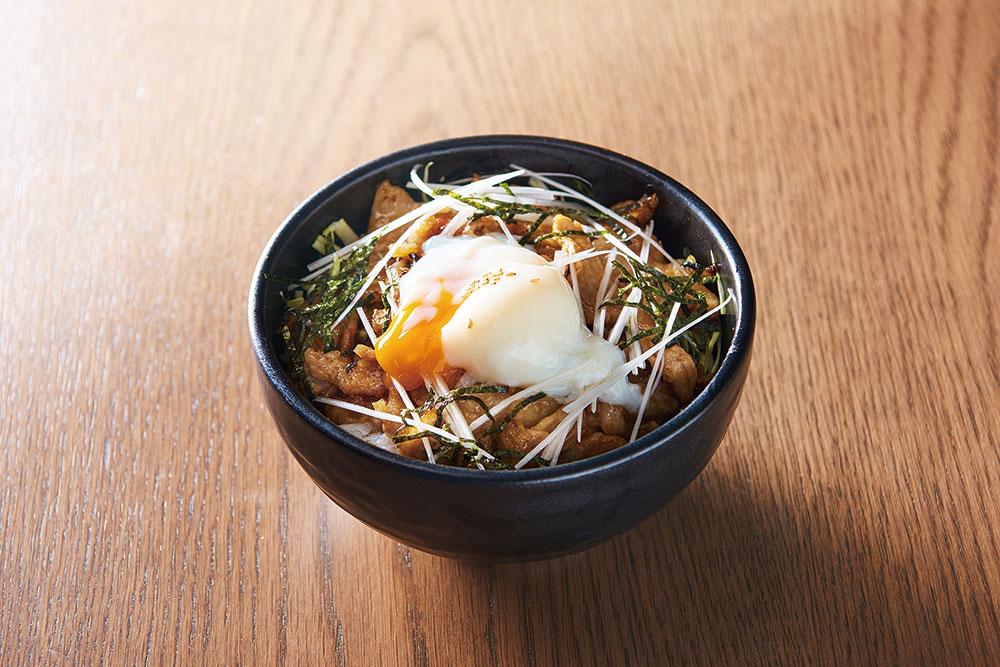 温泉卵の生姜焼き丼
